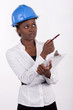 Young South African woman wearing a hard-hat