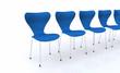 Designer Stuhlreihe - Blau