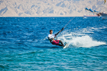 Kite surfing on the Red Sea