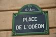 place de l'odéon à Paris 6ièm