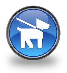 Dog Glossy Button