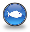 Fish Glossy Button