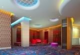 a reception room. 3d render, hall