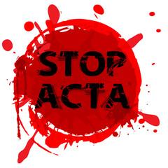 STOP ACTA Symbol