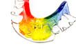 Unterseite detailliert: bunte Zahnspange