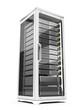 Server rack isolated on white background