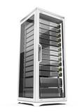 Fototapety Server rack isolated on white background
