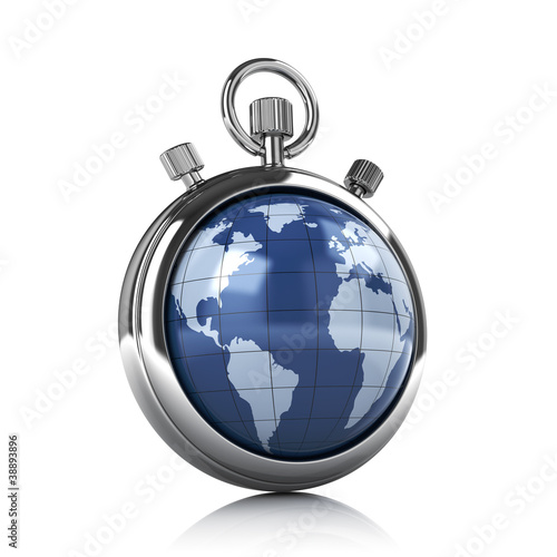 World stopwatch - time concept
