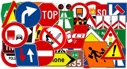 Quadro con segnaletica stradale