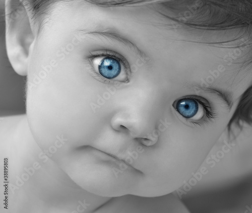 Young Baby Portrait Closeup