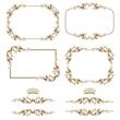 decorative frame, border, elements