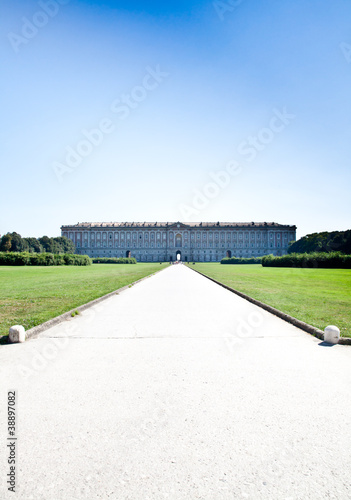 Royal palace gardens Poster