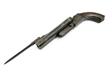 Old gun with bayonet