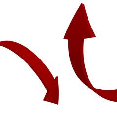 Frecce rosse su e giù