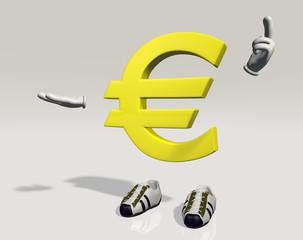Personaggio Euro che spiega