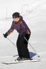 Woman on the ski