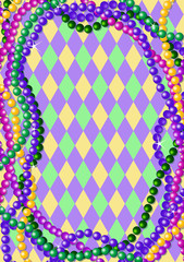 Mardi Gras beads background