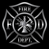 Fire Department Cross Silver