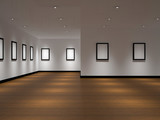 The big gallery with empty black frames