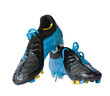 Football shoes with clipping path