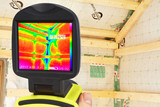 thermography showing weak spots in the thermal insulation