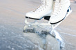Tilted natural version, ice skates with reflection - 38904872
