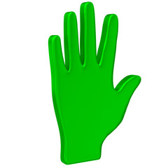 Green hand icon 3d