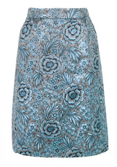 blue ornate skirt