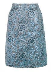 blue ornate skirt