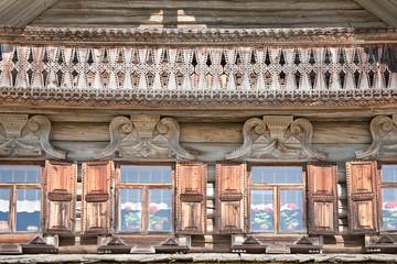 Facade of ancient house