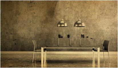 Wohndesign - Esszimmer altes Foto