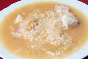 arroz caldoso con pescado