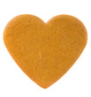 Gingerbread heart isolated on white