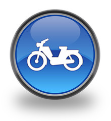 Motorcycle glossy button