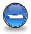 Water Transportation Glossy Button