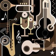 Muzyka w tle - abstrakcyjna ilustracji wektorowych
