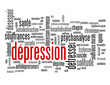 "Nuage de Tags ""DEPRESSION"" (nerveuse souffrance maladie suicide)"