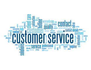 """CUSTOMER SERVICE"" Tag Cloud (contact us support hotline button)"