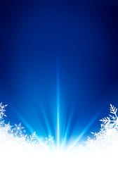 Fond neige flocon bleu vertical lumière