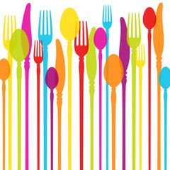 Cutlery Background Colours