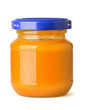 Jar of natural baby fruit puree