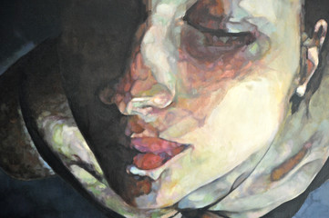 tableau de visage féminin