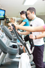 handsome man on treadmill