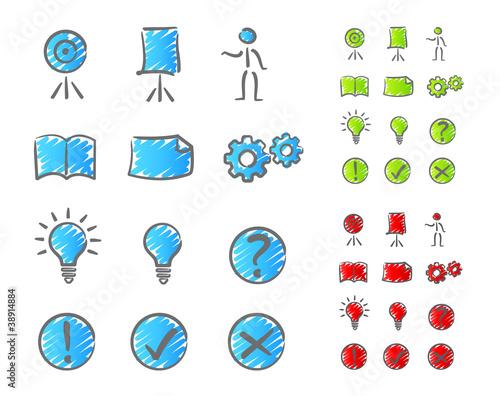 Presentation icons set 2