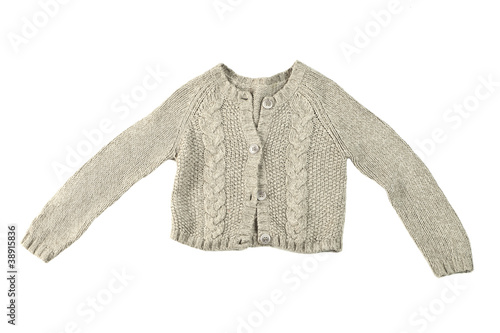wool sweater isolated on white background