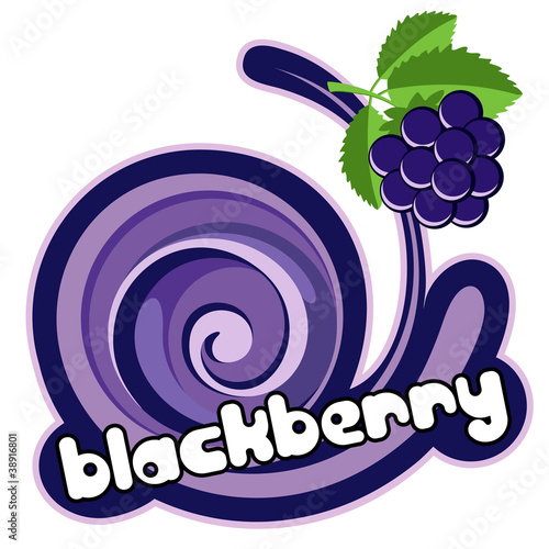 Ice cream blackberry