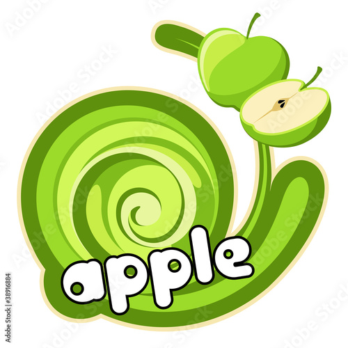 Ice cream green apple