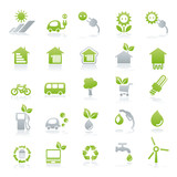 Fototapety vector iconset energy + green lifestyle