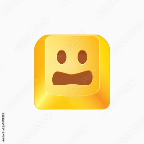 Vector smiley button