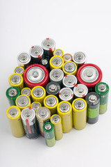 a few old used batteries